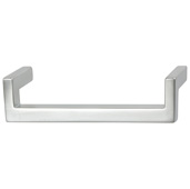 Cornerstone Series Modern Handle Collection (5-3/8'' W) Handle in Matt Aluminum, 136.5mm W x 27mm D x 35mm H, Center to Center: 128mm  (5-3/64'')