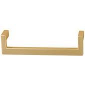 Cornerstone Series Modern Handle Collection (5-3/8'' W) Handle in Matt Gold, 136.5mm W x 27mm D x 35mm H, Center to Center: 128mm  (5-3/64'')