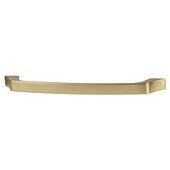 Cornerstone Series Elite Handle Collection Zinc Arched Handle in Matt Gold, 184mm W x 27.5mm D x 12mm H (7-1/4'' W x 1-1/16'' D x 1/2'' H), Center to Center: 160mm (6-5/16'')