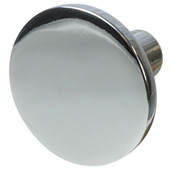 Cornerstone Series Elite Handle Collection (1-1/2'' Diameter) Mid-Century Modern Knob in Polished Chrome, 38mm Diameter x 21mm D