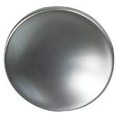 Cornerstone Series Elite Handle Collection (1-1/2'' Diameter) Mid-Century Modern Knob in Matt Aluminum, 38mm Diameter x 21mm D