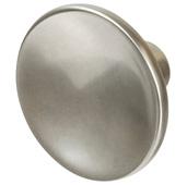 Cornerstone Series Elite Handle Collection (1-1/2'' Diameter) Mid-Century Modern Knob in Matt Nickel, 38mm Diameter x 21mm D