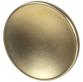 Cornerstone Series Elite Handle Collection (1-1/2'' Diameter) Mid-Century Modern Knob in Matt Gold, 38mm Diameter x 21mm D