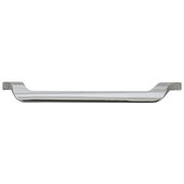 Cornerstone Series Elite Handle Collection Zinc Dropped Handle in Polished Chrome, 185mm W x 23mm D x 24mm H (7-5/16'' W x 7/8'' D x 15/16'' H), Center to Center: 160mm (6-5/16'')