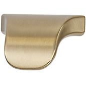 Cornerstone Series Elite Handle Collection (1-3/8'' W) Modern Finger Pull Handle in Matt Gold, 35mm W x 23mm D x 23mm H, Center to Center: 16mm  (5/8'')