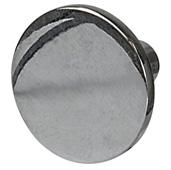 Cornerstone Series Elite Handle Collection (1-1/8'' Diameter) Mid-Century Modern Knob in Polished Chrome, 28.5mm Diameter x 20.5mm D
