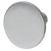 Cornerstone Series Elite Handle Collection (1-1/8'' Diameter) Mid-Century Modern Knob in Matt Aluminum, 28.5mm Diameter x 20.5mm D