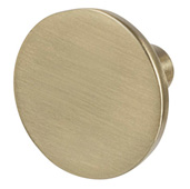 Cornerstone Series Elite Handle Collection (1-1/8'' Diameter) Mid-Century Modern Knob in Matt Gold, 28.5mm Diameter x 20.5mm D