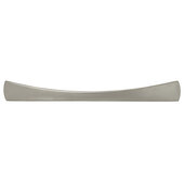 Cornerstone Series Elite Handle Collection Zinc Bow Handle in Matt Nickel, 185mm W x 24mm D x 22mm H (7-5/16'' W x 15/16'' D x 7/8'' H), Center to Center: 128mm (5-1/16'')