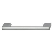 Cornerstone Series Elite Handle Collection Zinc Pull Handle in Matt Aluminum, 118mm W x 27mm D x 8.3mm H (4-5/8'' W x 1-1/16'' D x 5/16'' H), Center to Center: 96mm (3-3/4'')