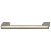 Cornerstone Series Elite Handle Collection Zinc Pull Handle in Matte Nickel, 118mm W x 27mm D x 8.3mm H (4-5/8'' W x 1-1/16'' D x 5/16'' H), Center to Center: 96mm (3-3/4'')
