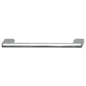 Cornerstone Series Elite Handle Collection Zinc Pull Handle in Polished Chrome, 150mm W x 27mm D x 8.3mm H (5-7/8'' W x 1-1/16'' D x 5/16'' H), Center to Center: 128mm (5-1/16'')