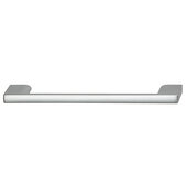 Cornerstone Series Elite Handle Collection Zinc Pull Handle in Matt Aluminum, 150mm W x 27mm D x 8.3mm H (5-7/8'' W x 1-1/16'' D x 5/16'' H), Center to Center: 128mm (5-1/16'')