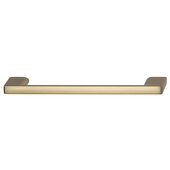Cornerstone Series Elite Handle Collection Zinc Pull Handle in Matte Gold, 150mm W x 27mm D x 8.3mm H (5-7/8'' W x 1-1/16'' D x 5/16'' H), Center to Center: 128mm (5-1/16'')