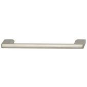 Cornerstone Series Elite Handle Collection Zinc Pull Handle in Matte Nickel, 150mm W x 27mm D x 8.3mm H (5-7/8'' W x 1-1/16'' D x 5/16'' H), Center to Center: 128mm (5-1/16'')