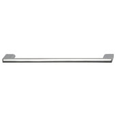Cornerstone Series Elite Handle Collection Zinc Pull Handle in Polished Chrome, 214mm W x 27mm D x 8.3mm H (8-7/16'' W x 1-1/16'' D x 5/16'' H), Center to Center: 192mm (7-9/16'')