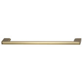 Cornerstone Series Elite Handle Collection Zinc Pull Handle in Matte Gold, 214mm W x 27mm D x 8.3mm H (8-7/16'' W x 1-1/16'' D x 5/16'' H), Center to Center: 192mm (7-9/16'')