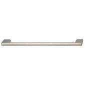 Cornerstone Series Elite Handle Collection Zinc Pull Handle in Matte Nickel, 214mm W x 27mm D x 8.3mm H (8-7/16'' W x 1-1/16'' D x 5/16'' H), Center to Center: 192mm (7-9/16'')