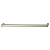 Cornerstone Series Tag Modern Handle Collection Zinc Pull Handle in Polished Chrome, 263.5mm W x 27mm D x 11mm H (10-3/8'' W x 1-1/16'' D x 7/16'' H), Center to Center: 256mm (10-1/16'')