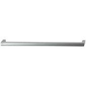 Cornerstone Series Tag Modern Handle Collection Zinc Pull Handle in Matt Aluminum, 263.5mm W x 27mm D x 11mm H (10-3/8'' W x 1-1/16'' D x 7/16'' H), Center to Center: 256mm (10-1/16'')
