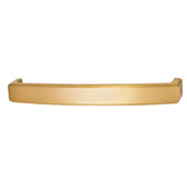 Mulberry Collection 5-2/5''W Handle in Brushed Brass, 136mm W x 25mm D x 16mm H
