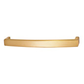 Mulberry Collection 6-3/4''W Handle in Brushed Brass, 170mm W x 26mm D x 17mm H