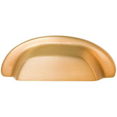 Arcadian Collection Cup Pull in Brushed Bronze, 107mm W x 38mm D x 22mm H, 90mm Center to Center