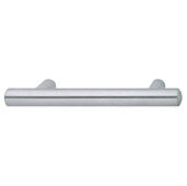 Cornerstone Series Veranda Collection (5-11/16'' W) Matt Stainless Steel Bar Cabinet Handle, 146mm W x 37mm D x 14mm H, Center to Center: 96mm  (3-3/4'')