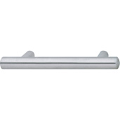 Cornerstone Series Veranda Collection (9-1/2'' W) Matt Stainless Steel Bar Cabinet Handle, 242mm W x 37mm D x 14mm H, Center to Center: 192mm  (7-9/16'')