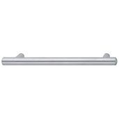Cornerstone Series Veranda Collection (10-3/4'' W) Matt Stainless Steel Bar Cabinet Handle, 274mm W x 37mm D x 14mm H, Center to Center: 224mm  (9'')