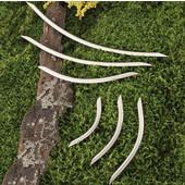 (15-1/2'' W) Steel Bow Cabinet Handle in Matt Nickel, 394mm W x 41mm D x 10mm H (Appliance Pull)
