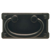 (3-3/4'' W) Traditional Bail Cabinet Handle in Black Oxide, 95mm W x 19.5mm D x 52mm H