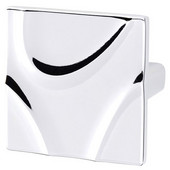 Breakers Collection 1-7/8'' W Square Knob in Polished Chrome, 45mm W x 25mm D x 45mm H