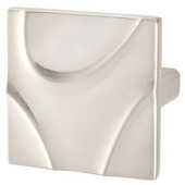 Breakers Collection 1-7/8'' W Square Knob in Stainless Steel Look, 45mm W x 25mm D x 45mm H