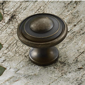 (1-1/4'' Diameter) Traditional Round Knob in Oil-Rubbed Bronze, 30mm Diameter x 28mm D x 18mm Base Diameter