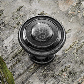 (1-1/4'') Diameter Round Knob in Pewter, 30mm Diameter x 28mm D x 18mm Base Diameter