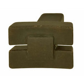 Eastview Collection Bowed Knob in Oil-Rubbed Bronze, 24mm W x 19mm D x 18mm H