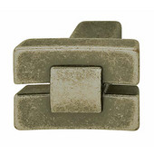 Eastview Collection Bowed Knob in Pewter, 24mm W x 19mm D x 18mm H