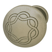 (1-1/4'' Diameter) Traditional Round Knob in Pewter, 30mm Diameter x 22mm D x 17mm Base Diameter