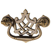 Chippendale Collection Pull in Antique Bronze, 82mm W x 20mm D x 57mm H