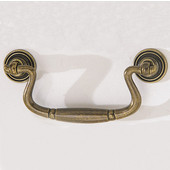 Chippendale Collection Pull in Antique Bronze, 116mm W x 20mm D x 52mm H