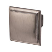 Beaulieu Knob in Brushed Nickel, 30mm W x 29mm D x 30mm H