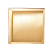 Beaulieu Knob in Brushed Brass, 30mm W x 29mm D x 30mm H