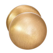 Mulberry Collection 1-1/4'' Dia. Round Knob in Brushed Brass, 32mm Diameter x 34 mm D x 5 mm Base Diameter, Available in Multiple Sizes