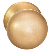 Mulberry Collection 1-1/2'' Dia. Round Knob in Brushed Brass, 38mm Diameter x 37 mm D x 5 mm Base Diameter, Available in Multiple Sizes