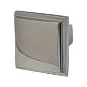 Beaulieu Knob in Polished Nickel, 30mm W x 29mm D x 30mm H