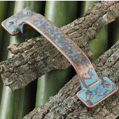 (5-1/2'' W) Traditional Pull in Rustic Copper, 140mm W x 26mm D x 35mm H