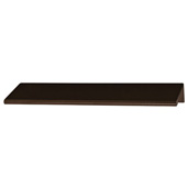 Cornerstone Series Tab Collection (6'' W) ''L'' Handle in Dark Oil Rubbed Bronze, 152mm W x 42mm D x 18mm H , Center to Center: 4''