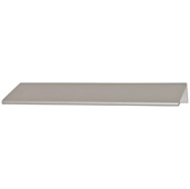 Cornerstone Series Tab Collection (1-5/8'' W) ''L'' Handle, Satin Aluminum, 40mm W x 42mm D x 18mm H, Center to Center: 25mm (1'')