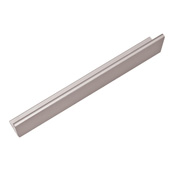 Tab Collection ''L'' Handle in Satin Aluminum, 70mm W x 42mm D x 18mm H